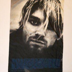 RARE Kurt Cobain NIRVANA Scarf Flag Wall Hanger